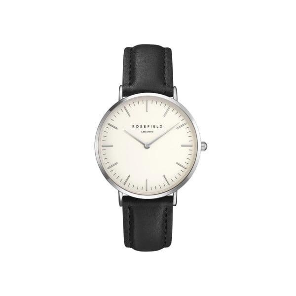 Strieborno-čierne dámske hodinky Rosefield The Bowery