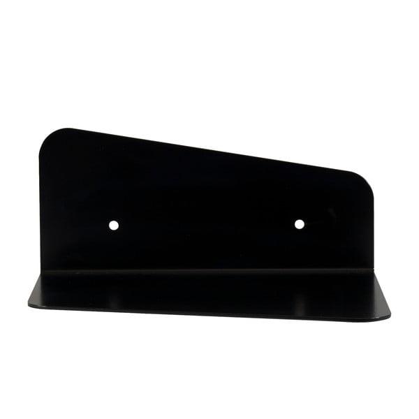 Nástenná kovová polica Gie El 23 cm, čierna