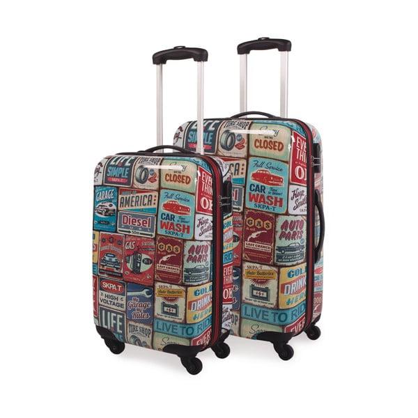 Sada 2 kufrov Skpa-T, retro vzor