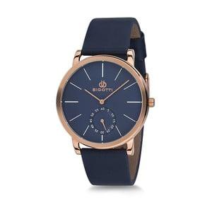 Pánske hodinky s modrým koženým remienkom Bigotti Milano Thomas