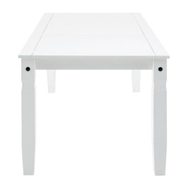Biely jedálenský stôl z masívneho borovicového dreva Støraa Alfredo, 92×178cm