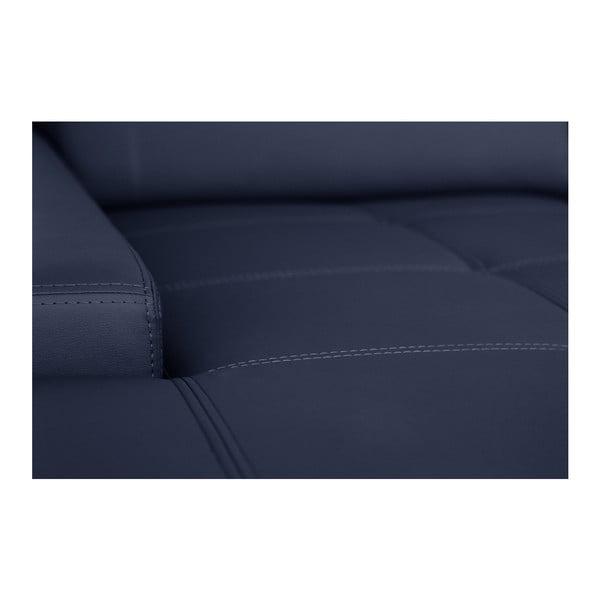 Modrá pohovka Modernist Cardigan, ľavý roh