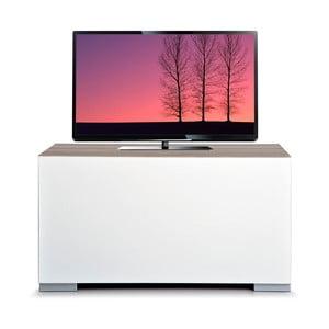 Televízny stolík Decoflex Full, biely/dub cordoba