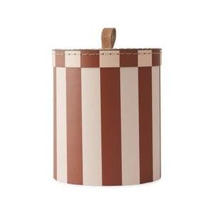 Červeno-biely úložný box OYOY Cute, ⌀ 17 cm