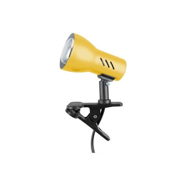 Žltá stolová lampa na klips BRITOP Lighting Cspot Yellow