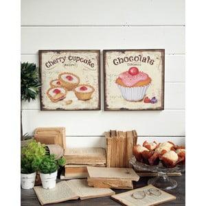 Nástenná dekorácia Cupcakes, 2 ks
