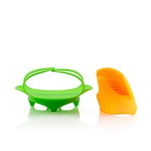 Sada skladacieho silikónového nástroja na naparovanie s kuchynskou chňapkou InnovaGoods