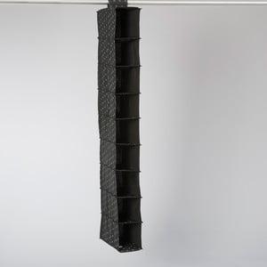 Textilný závesný organizér Compactor Garment Black 9 Rack