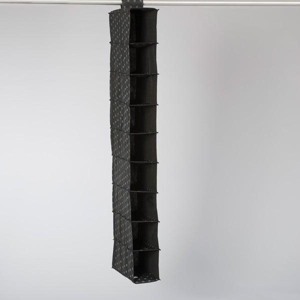 Čierny závesný organizér s 9 priehradkami Compactor Garment