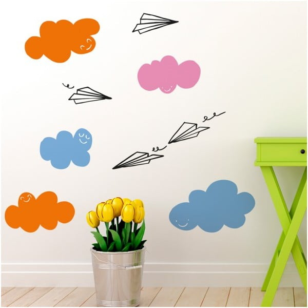 Samolepka Clouds and Planes, 28x31 cm
