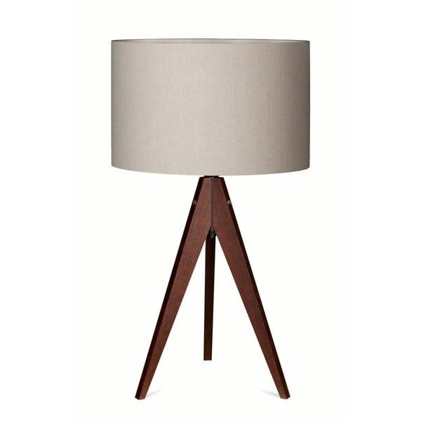 Stolná lampa Arist Grey/Dark Brown