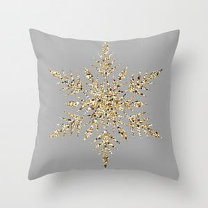 Obliečka na vankúš Snowflake Grey II, 45x45 cm