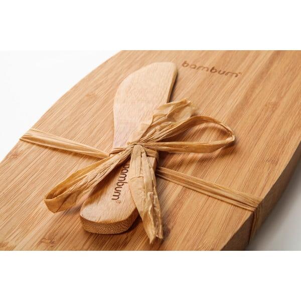 Bambusový podnos s nožom na syry Bambum Fiera