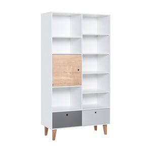 Knižnica z dubového dreva Vox Concept Naturale, 105 x 215 cm