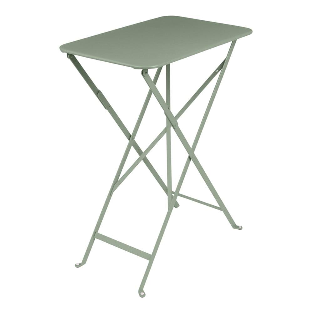 Sivozelený záhradný stolík Fermob Bistro, 37 × 57 cm