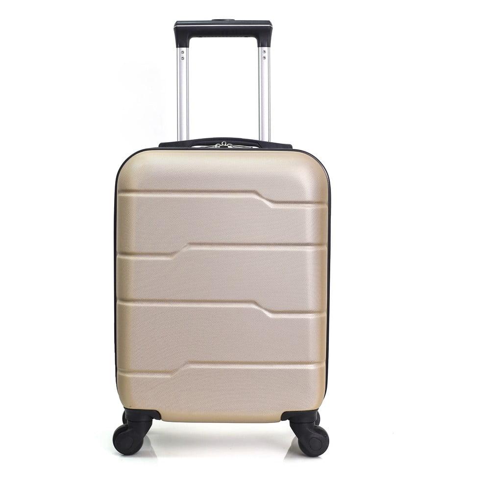 Béžový cestovný kufor na kolieskach Hero Santiago, 30 l