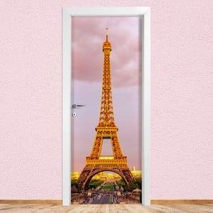 Samolepka na dvere LineArtistica Tour Eiffel, 80×215 cm