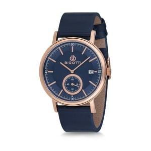 Pánske hodinky s modrým koženým remienkom Bigotti Milano Oceanias