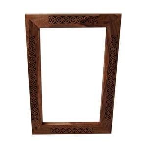 Zrkadlo s rámom z masívneho palisandrového dreva Massive Home Rosie
