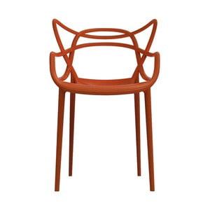 Oranžová jedálenská stolička Kartell Masters