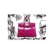 Obraz Couture Croc Pink, 81 x 122 cm