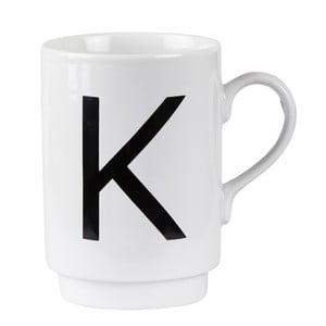 Porcelánový písmenkový hrnček KJ Collection K