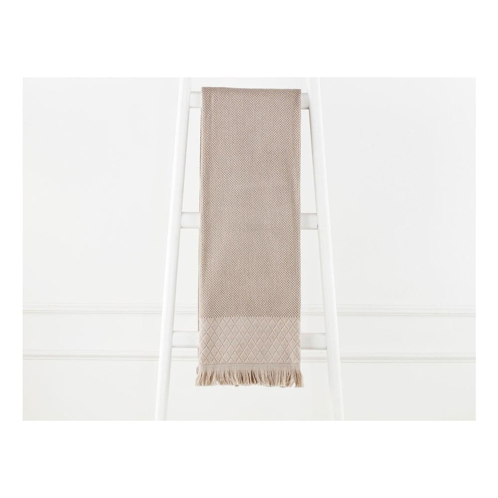 Svetlohnedý bavlnený uterák Madame Coco Eleanor, 70×140 cm