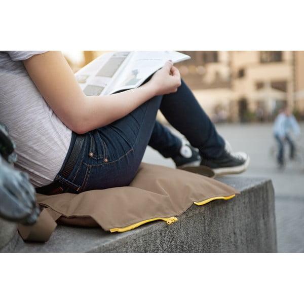 Skladací sedák Hhooboz 50x60 cm, béžový