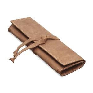 Hnedé kožené puzdro na okuliare/perá Packenger