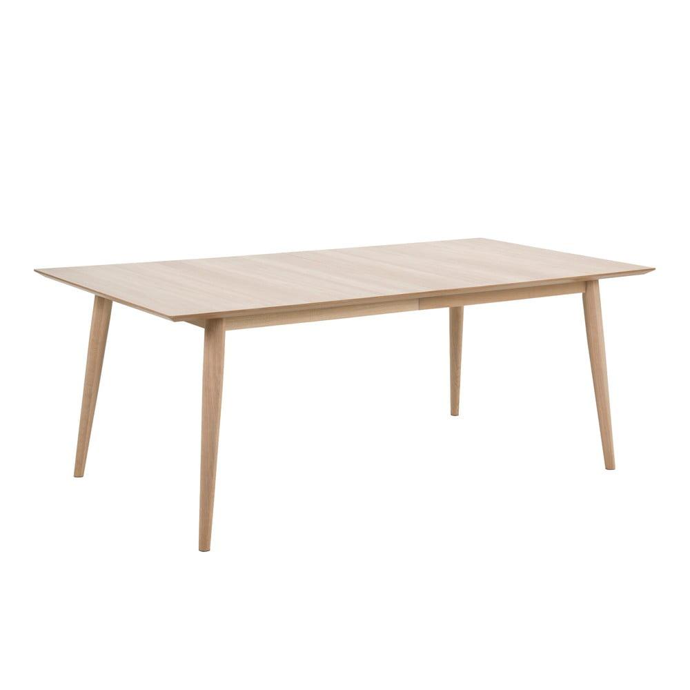 Rozkladací jedálenský stôl s podnožím z dubového dreva Actona Century, 200 x 100 cm