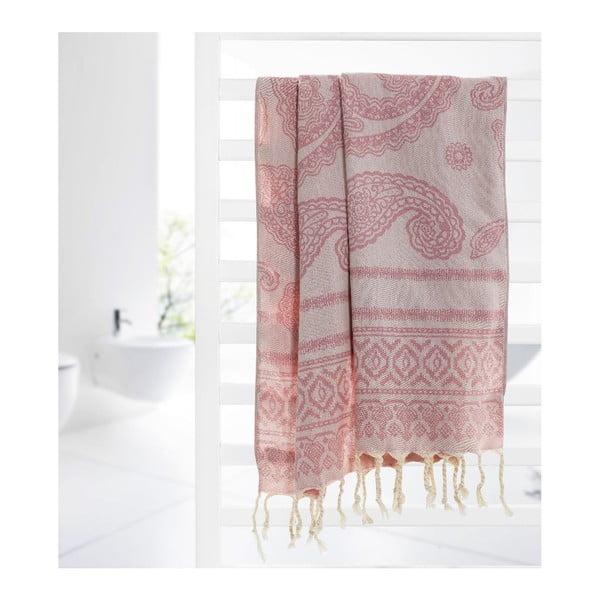 Hamam osuška Paisley Pink, 95x175 cm
