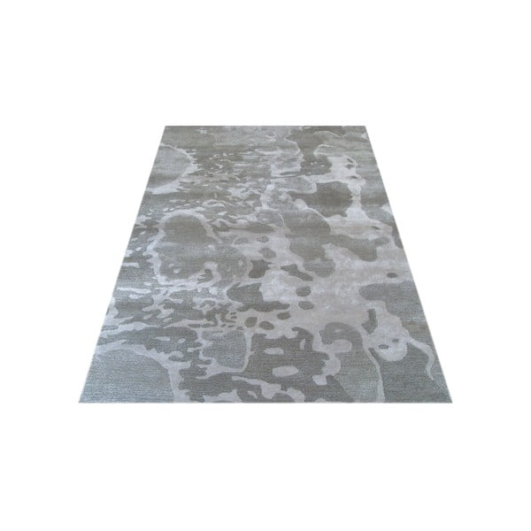 Ručne tkaný koberec Disco, 153x244 cm, strieborný