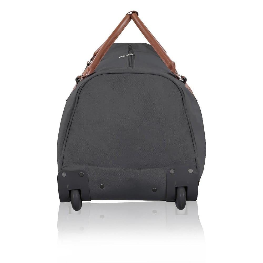 4180743990 ... Tmavosivá cestovná taška na kolieskach GENTLEMAN FARMER Norway