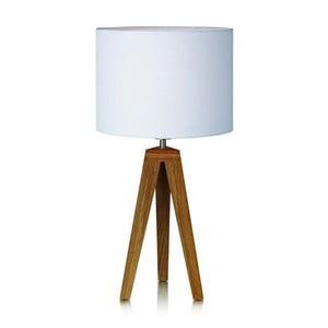 Biela stolová lampa Markslöjd Kullenu,28cm
