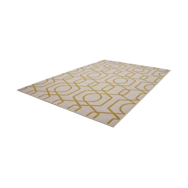 Žlto-sivý koberec Kayoom Stella 400 Yellow, 80x150cm