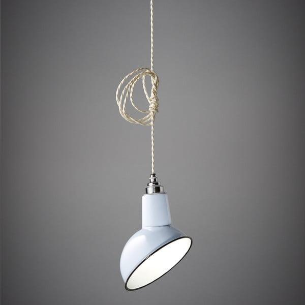 Závesné svetlo Miniature Angled Cloche White