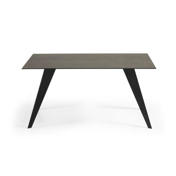 Jedálenský stôl so sivou doskou La Forma Nack, 90 x 160 cm