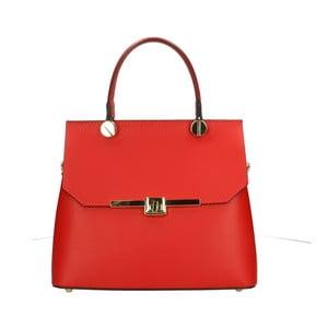 Červená kožená kabelka Roberto Buono Fiona