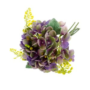 Fialový umelý kvet v štýle hortenzie s papradím Dakls