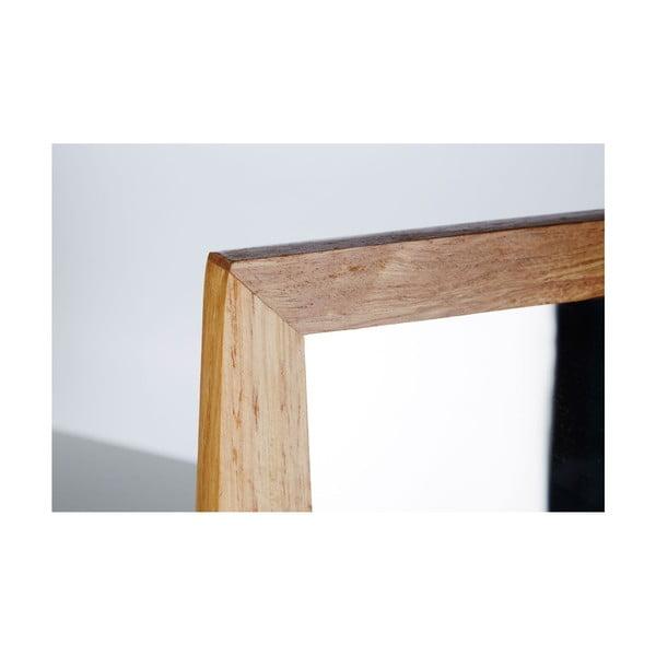 Zrkadielko s dreveným rámom Table Mirror, 9 cm
