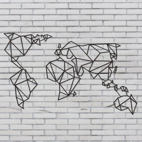 Čierna nástenná kovová dekorácia Wall Decor World, 60 x 120 cm
