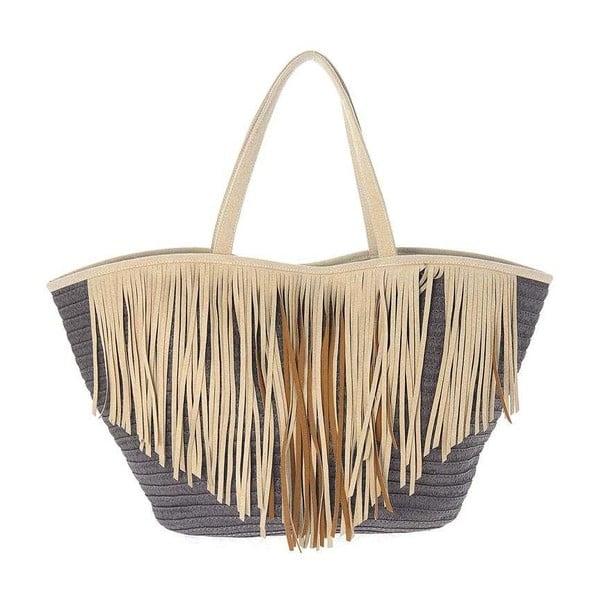 Plážová taška Brown Fringes