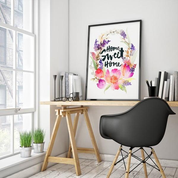 Plagát s kvetmi Home Sweet Home, 30 x 40 cm