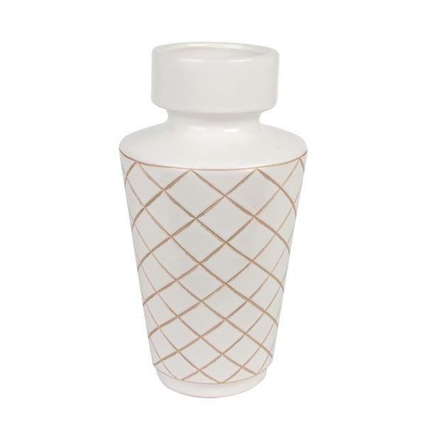 Biela váza ETH Carved Diamonds