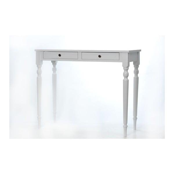 Toaletný stolík Milton White, 100x42x82 cm