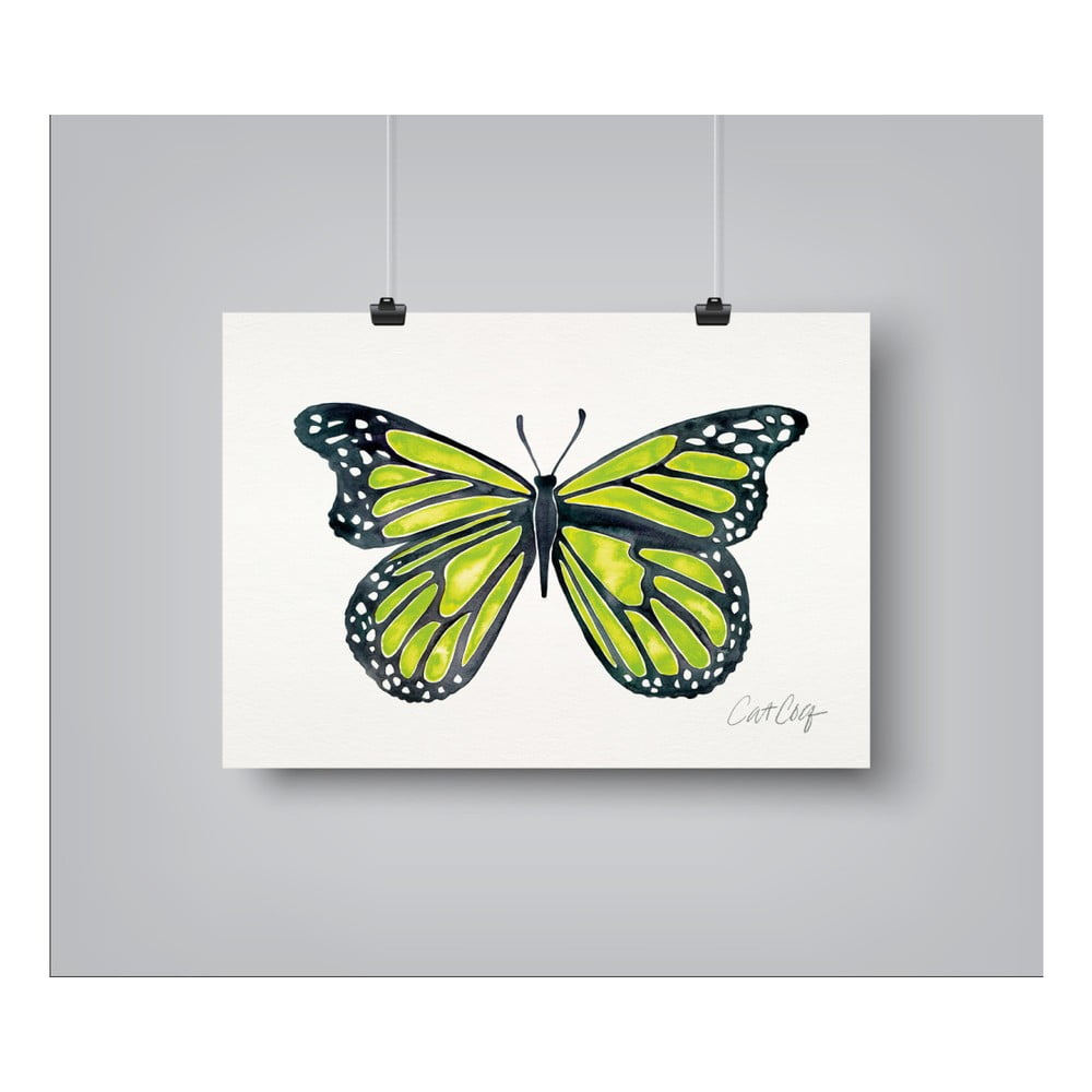 Plagát Americanflat Butterfly, 30 x 42 cm