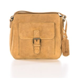 Sivá kožená kabelka Gianni Conti Irene