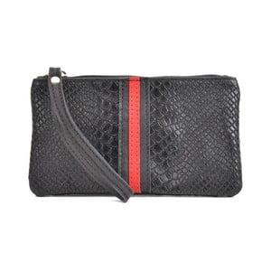 Čierna kožená listová kabelka Mangotti Bags Studo