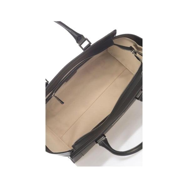 Kožená kabelka Krole Kristen, čierna