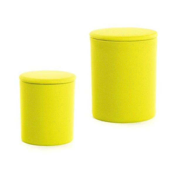 Sada 2 taburetiek The Drum Lime Punch